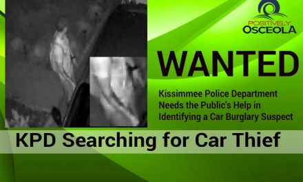 Kissimmee Police Department Searching for Car Burglary Suspect