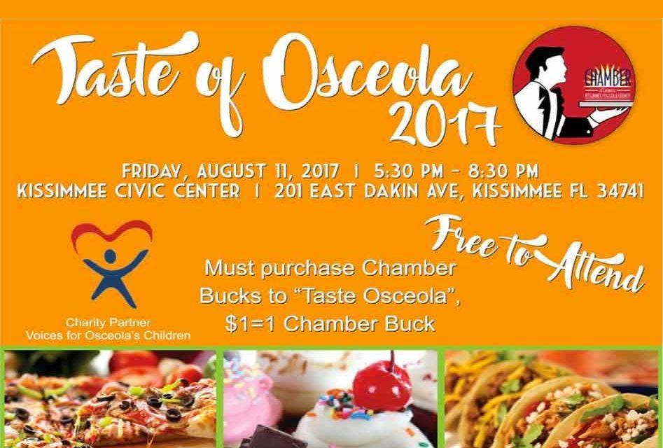 Kissimmee/Osceola County Chamber to Host Taste of Osceola August 11