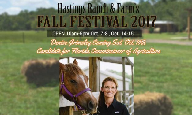 Hastings Fall Festival Welcomes  Denise Grimsley, Candidate for Florida Commissioner of Ag on Oct. 14th