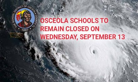 Osceola Schools To Remain Closed on Wednesday, September 13