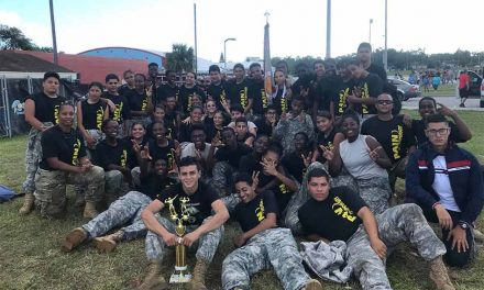 Liberty High Raider Team Takes 1st in Iron Raider ROTC Fitness Test