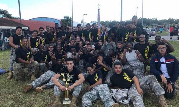 Liberty High Raider Team Takes 1st in Iron Raider ROTC Fitness Test