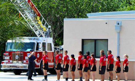 St. Cloud High School JROTC Cadets Complete St. Cloud Fire Rescue Training Program