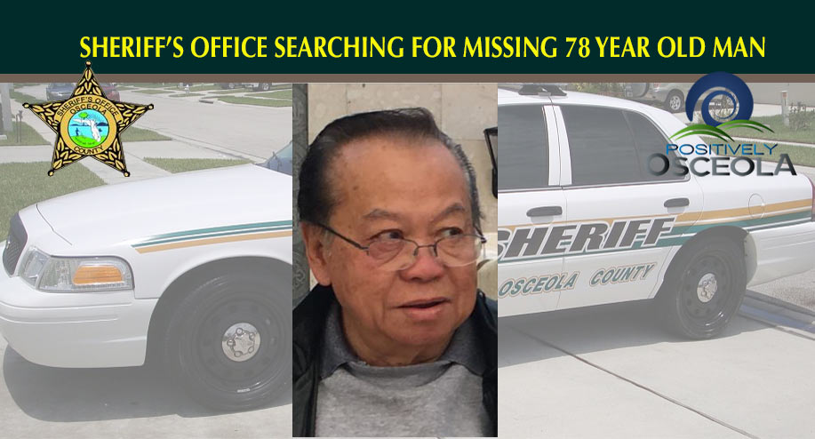 Osceola Sheriff's Office Searching for Missing 78 Year Old Man