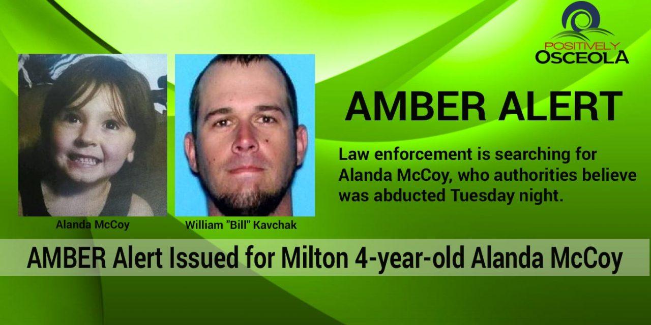 Amber Alert Canceled for Missing 4-year-old Florida Girl, Alanda McCoy