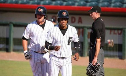 Florida Fire Frogs Fall In Finale To Fort Myers at Osceola Baseball Stadium