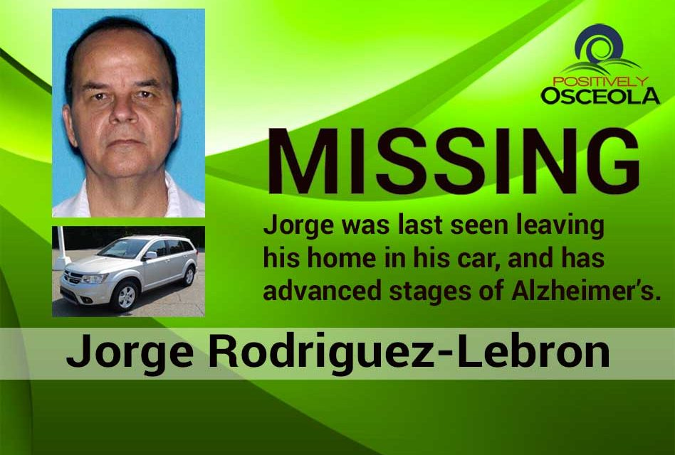 Osceola Detectives Need Public's Help in Locating Missing Man With Alzheimer's