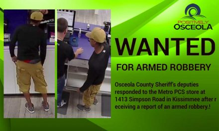 Osceola Sheriff's Office Searching for Kissimmee MetroPCS Armed Robbery Suspect
