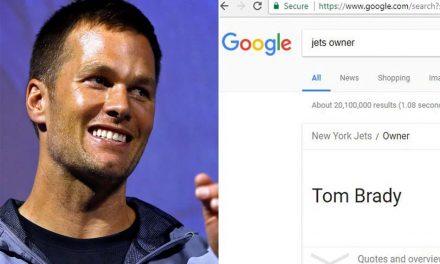 Tom Brady Owns the NY Jets… Google It!