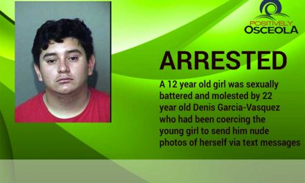 22 Year Old Man Arrested for Sexually Battering & Molesting a 12 Year Old Girl