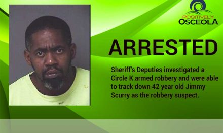 Osceola Sheriff's Office Arrests Kissimmee Circle K Armed Robbery Suspect