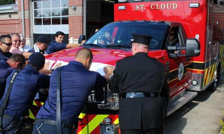 St. Cloud Fire Rescue Hosts a Push Back Ceremony for its New Engine 33