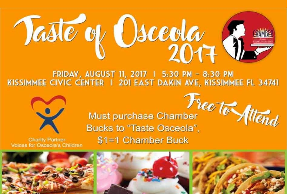 Kissimmee/Osceola County Chamber to Host Taste of Osceola August 11