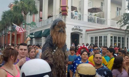 Celebration Florida's Sci-fi July 4th Fireworks Included a Giant Wookie!