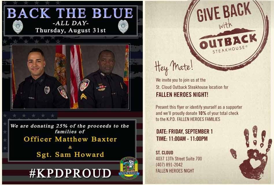 St. Cloud Restaurants Continue to Give to Fallen KPD Officers' Families
