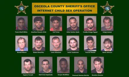 Osceola Sheriff's Office Arrests 17 in Internet Child Sex Operation