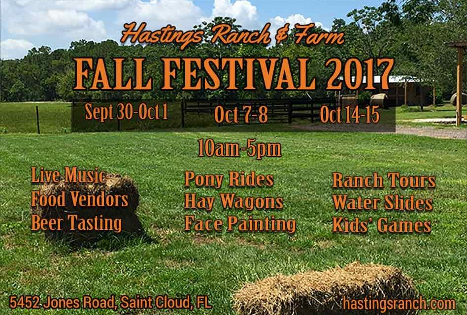 Hastings Ranch & Farm Announces Fall Festival 2017 Dates!