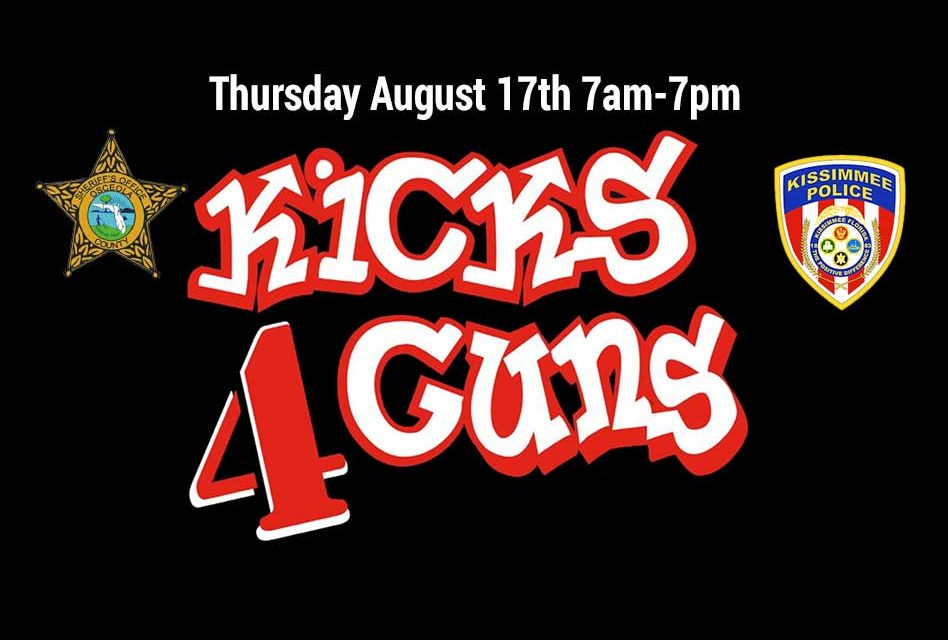 Osceola Sheriff's Dept. and Kissimmee Police to Host Kicks 4 Guns Program