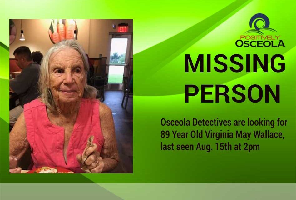 Osceola Detectives Searching for 89 Year Old Missing Woman With Dementia