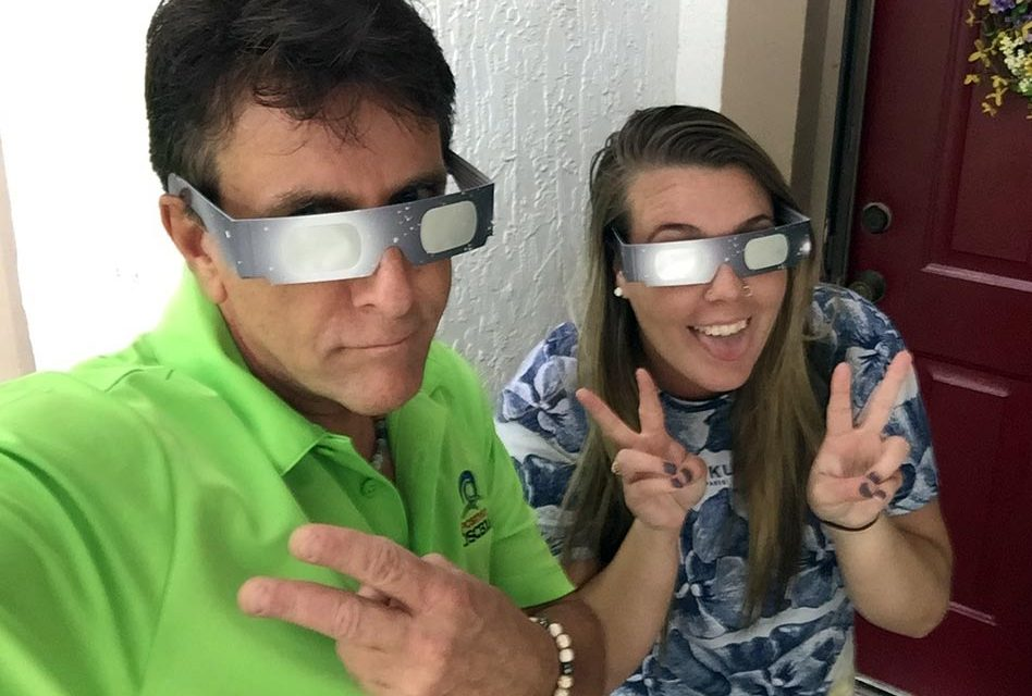 It's Solar Eclipse Day and Thanks to Dorene and Lindsey Tierney, We Can Look at the Sun!