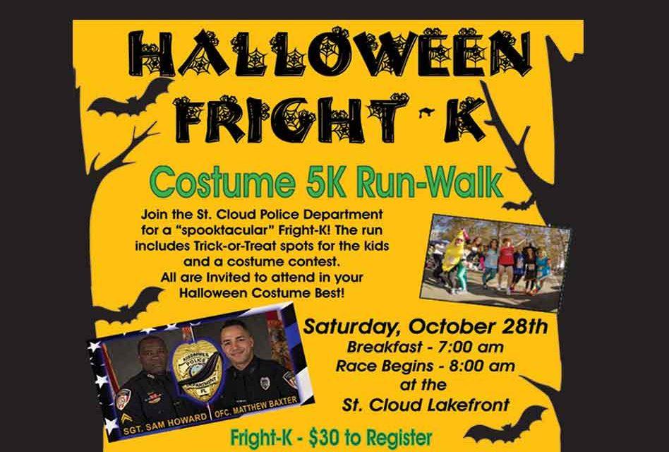 Halloween Fright-K Costume 5K Run-Walk Benefit Oct. 28
