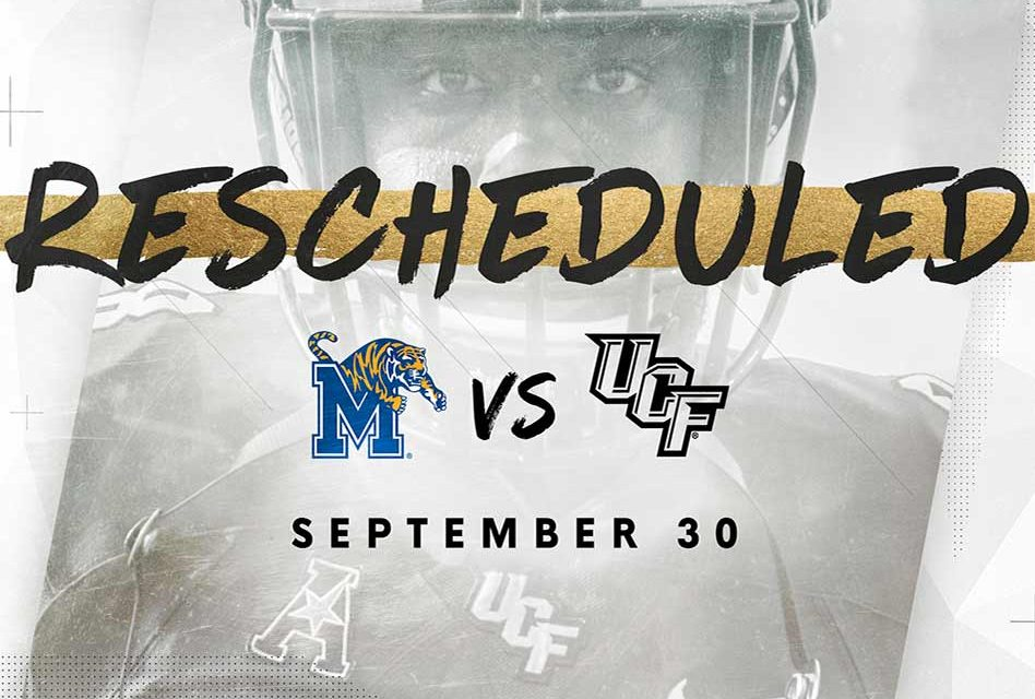 UCF Knights vs. Memphis Tigers Rescheduled for Sept. 30