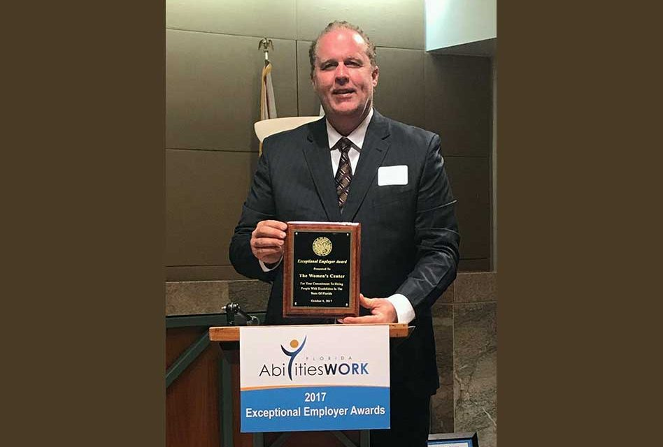 The Women's Center Recognized by State as Exceptional Employer of Those With Disabilities