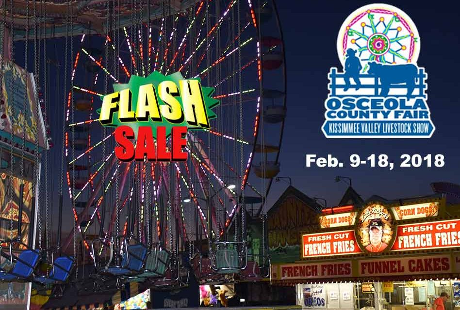 Time is Running Out on the Osceola County Fair Advance Armband Holiday Flash Sale!