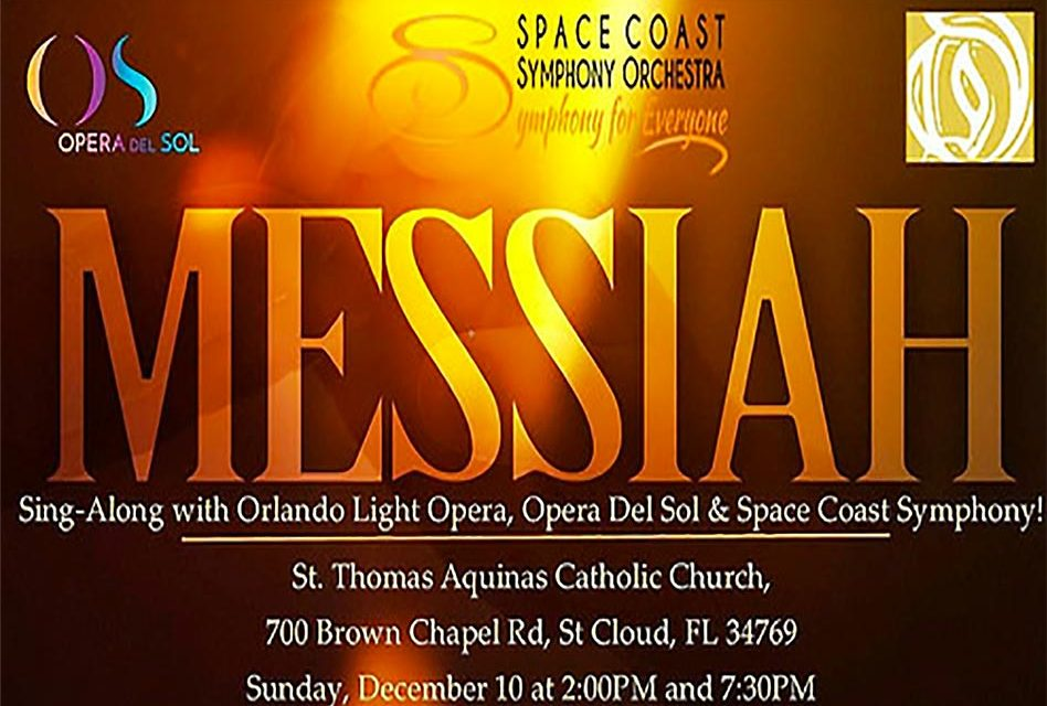 Handel's Messiah Sing Along for All Ages at St Thomas Aquinas This Sunday for 2 Shows