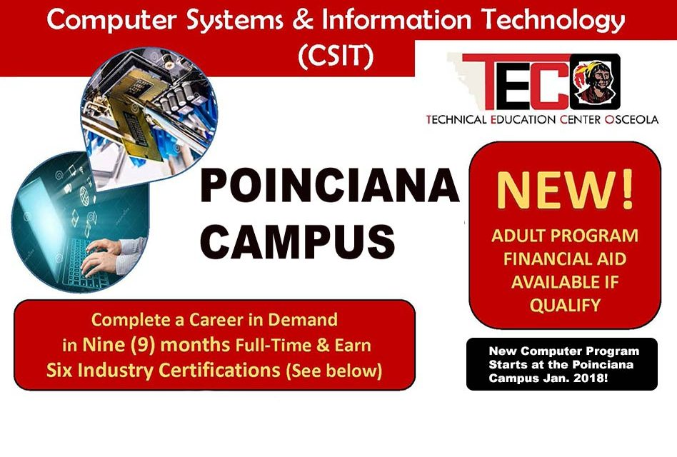 Complete a High Demand Career in 9 Months in Computer Systems & Information Technology