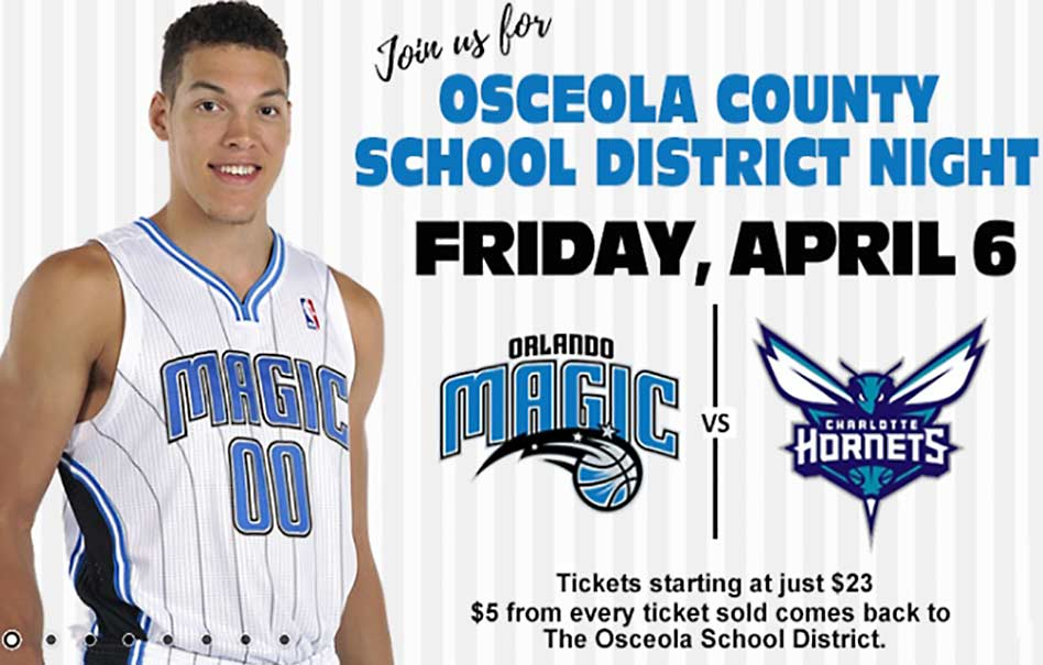 Join the Osceola School District for a Night of Orlando Magic Basketball Fun!
