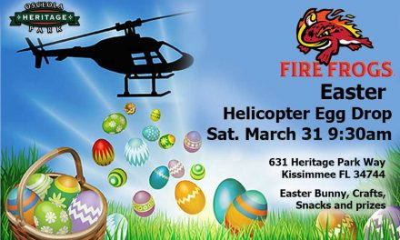 Florida Fire Frogs to Host Helicopter Egg Drop Saturday March 31st at 9:30am