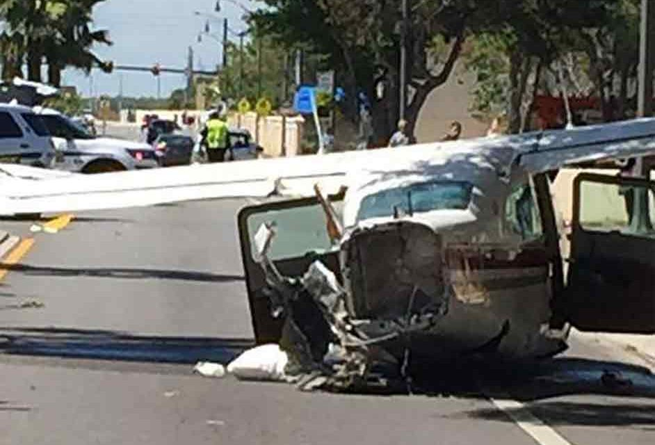 Small Plane Crash Lands Into Kissimmee Street; No InJuries Reported