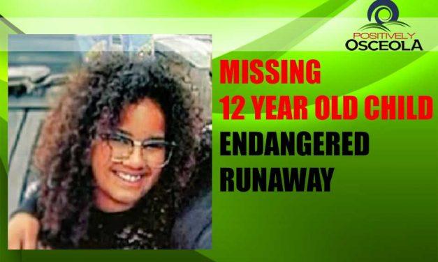 Missing 12 Year Old Child Alert – Endangered Runaway