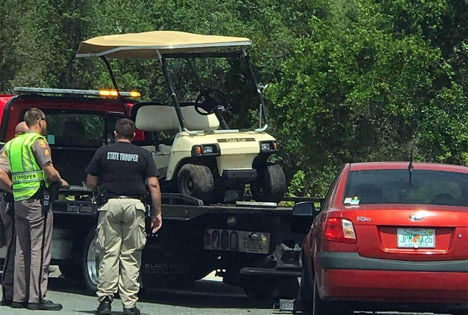 Golf Cart Passenger Critically Injured in Crash in Osceola County