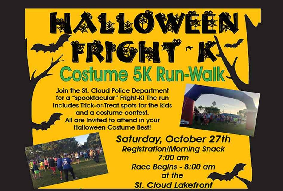 St. Cloud Halloween Fright-K Costumed  5K/Run October 27th to Benefit Local Charity