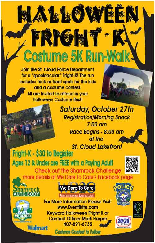 2020 Halloween Fright K 5k In Saint Cloud October 27 St. Cloud Halloween Fright K Costumed 5K/Run October 27th to