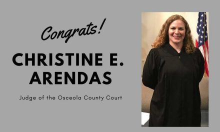 Christine E. Arendas sworn in as Judge of Osceola County Court