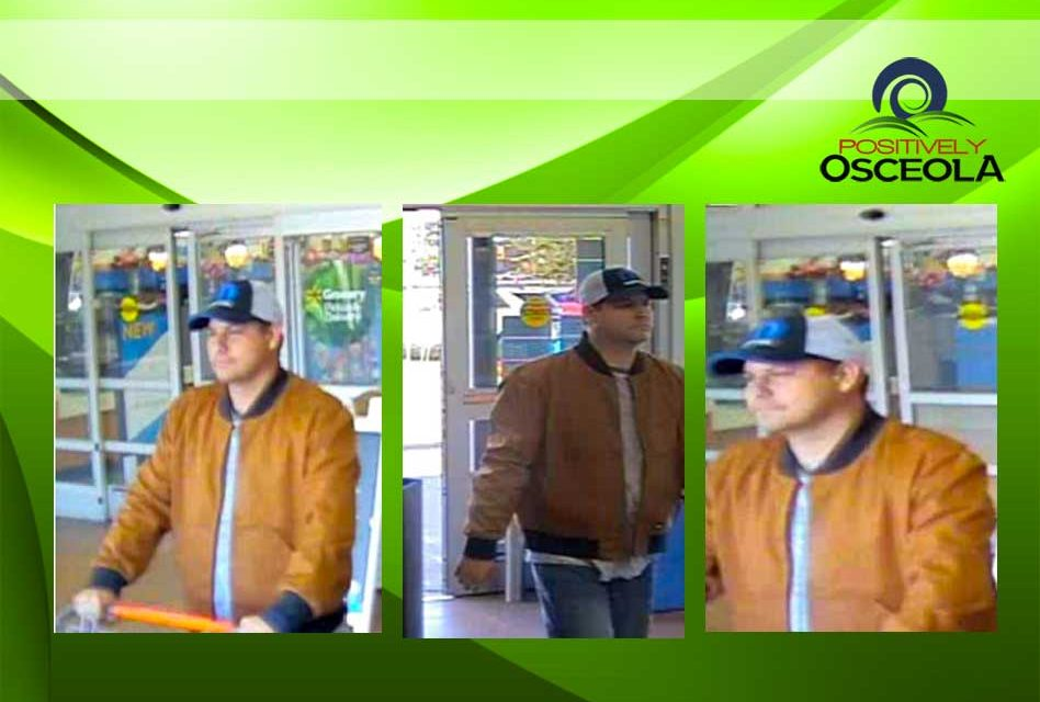 St. Cloud Police Requesting Public's Help in Locating WalMart Retail Grand Theft Suspect