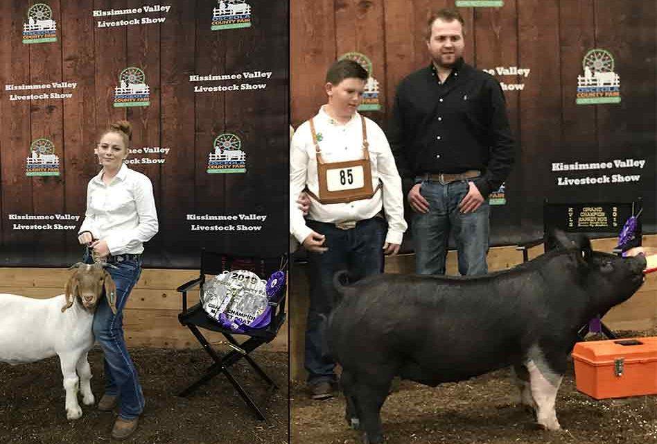 2019 KVLS Champion Market Hog and Goat Winners
