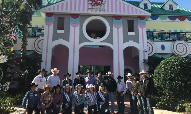 Children at Give Kids The World Meet RAM National Circuit Finals Rodeo Contestants
