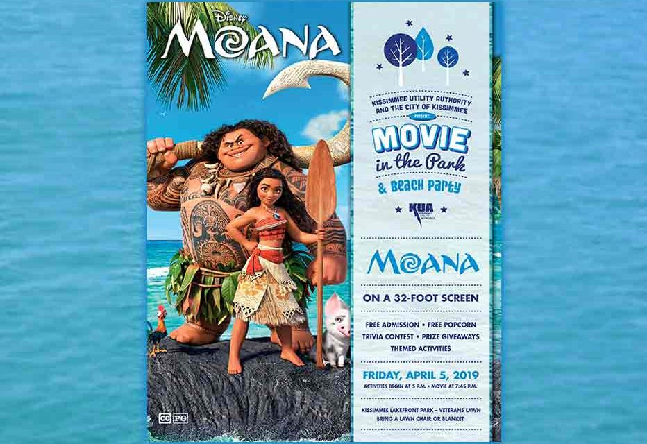 "KUA to Host Free Movie in the Park Featuring Disney's ""Moana"""