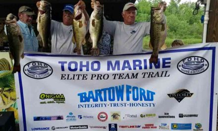 Ninety-four Teams of Anglers Launched from Lake Kissimmee for the Toho Marine Elite Pro Team Trail
