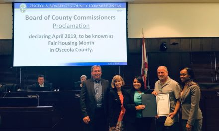Osceola County Commissioners Proclaim April 2019 as Fair Housing Month in Osceola County