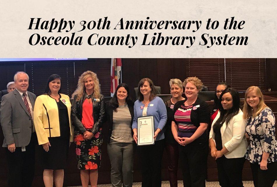 Osceola County Library System Celebrates its 30th Anniversary