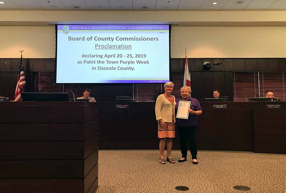 Paint the County Purple Week Set for April 20-27th in Osceola County