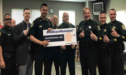 "Osceola Leaders Join ""MANicure Movement"" During Child Abuse Awareness Month"