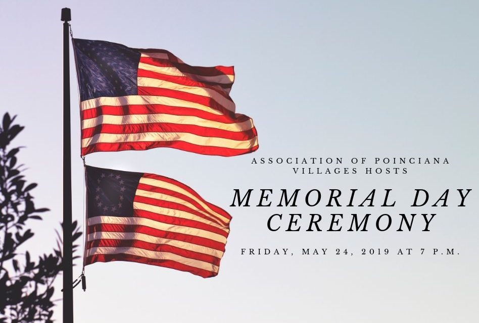 Association of Poinciana Villages Honor Fallen Heroes in Poinciana on Friday