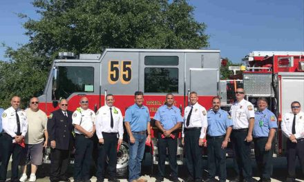 Osceola County Fire Rescue Hosts Push Back Ceremony for New Engine 55
