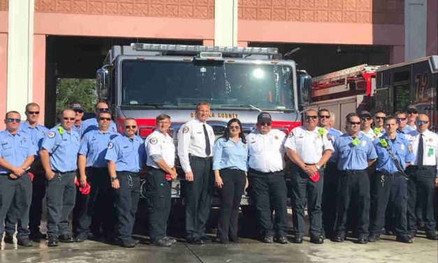 """Osceola County Fire Rescue Hosts """"Push Back"""" Ceremony For New Engine and Tower"""